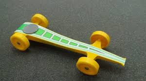 pinewood derby race cars fast pinewood race car yellow green 5 youtube