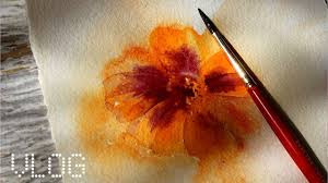 Easy Things To Paint Easy Things To Watercolor Paint Marigold Youtube