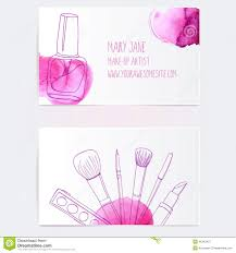 make up artist business card template royalty free ilration