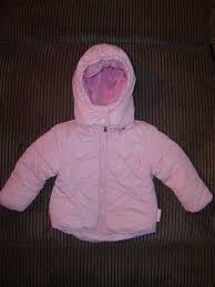 details about weatherproof infant girl pink winter puffer coat sz 18mo euc