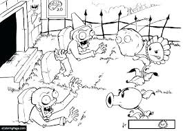 Plant Vs Zombie Coloring Pages Free Plants Zombies Cactus Fire