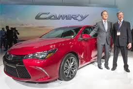 2014 camry redesign. Fine 2014 Toyotau0027s Vice President And General Manager Bill Fay Camry Chief  Engineer Monte Kaehr With The To 2014 Redesign Automotive Fleet