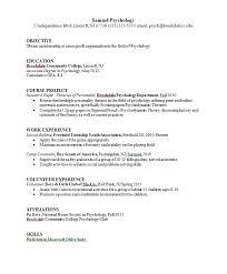 Psychology Resume Template Best of Psychology Resume Template Amyparkus