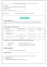 Word 2007 Cv Template Download Resume Ms Office In Format Free