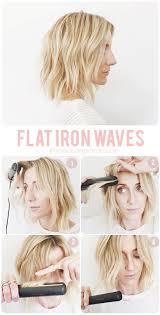 Mapping Out Flat Iron Waves účesy Krátké Vlasy Vlasy A Návody