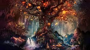 old tree, fantasy, art, 4k, uhd ...