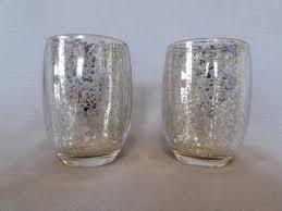 mercury glass candle holders silver pillar uk