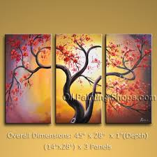 three panel canvas wall art contemporary blossom tree oil painting mysterious look artwork artistic pinterest large  on large 3 panel wall art with wall art gallery of panel canvas wall art 3 panel wall art 3 panel