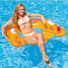 2016 intex brand inflatable water sofa 152 99cm air mattress cup holder water lounge ideal
