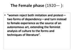feminism feminist criticism elaine showalter 18 conclusion • in her essay feminist criticism