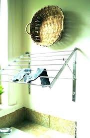 laundry hanging drying rack wall room kids ideas clothes with clips hangin laundry room drying rack