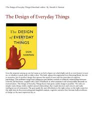 Don Norman Design Of Everyday Things The Design Of Everyday Things Download_online By Donald