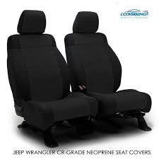 details about 2018 jeep wrangler jk genuine neoprene black seat covers by coverking