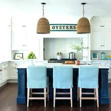 slipcovered counter stools. Slipcovered Counter Stools Slipcovers For Navy Kitchen Island With Turquoise Linen . I