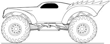 Small Picture Monster Truck Coloring Pages For Kids Photos Coloring Monster