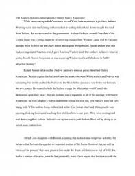 did andrew jackson s removal policy benefit native americans essay zoom zoom