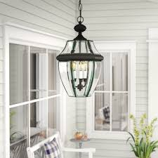 Large Hanging Front Porch Lights Washington Mews 3 Light Outdoor Hanging Lantern
