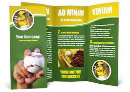 Baseball Brochure Template Baseball Brochure Template