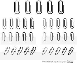 結構使うよ クリップのイラストレーター素材 シルエットデザイン