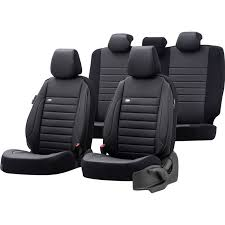 universal leather fabric seat cover set