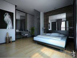 Modern Bedroom For Men Gorgeous Bedroom Design With Wooden Floor Also Mirror Headboard