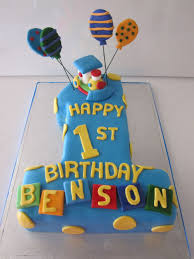 1 Year Old Boy Cake Design Simple One Year Old Cake One Year Birthday Cake Cool
