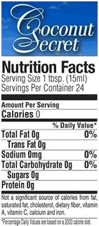 braggs apple cider vinegar nutrition facts label coconut vinegar nutrition facts label