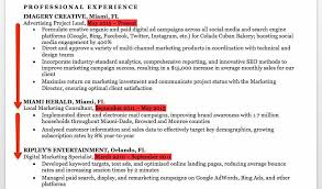 Marketing Experience Resume Marketing Resume Sample Writing Tips Resume Companion