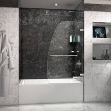 bathtub design review aqua uno in frameless hinged tub door bathtub shower doors behind the glass