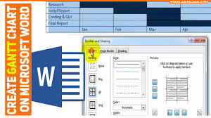 How To Create Gantt Chart On Microsoft Word