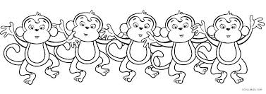 Cute Monkey Coloring Pages Printable Monkey Coloring Pages Printable