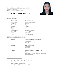 Basic Resume Sample Philippines Resume Examples Philippines Resume Ixiplay Free Resume Samples 1