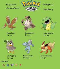 Generations Leafgreen Pt 4 A Tragedy In Four Acts Nuzlocke