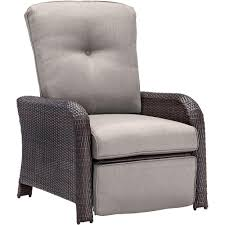 Patio Recliner Chairs Hanover Strathmere All Weather Wicker Reclining Patio Lounge Chair