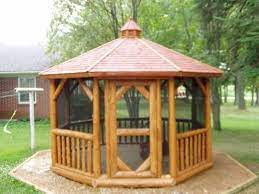 Heartland Gazebos Log Gazebos Gazebo With Fire Pit Gazebo Patio Remodel