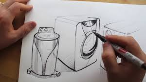 washing machine drawing. how to draw. product design sketching. washing machine - youtube drawing