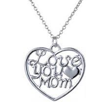 details about new i love you mom heart pendant mum mother charm silver necklace chain jewelry