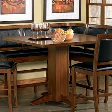 this sleek counter height pedestal base table will be wonderful in your cal dining and entertainment