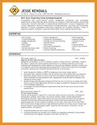 Construction Superintendent Resume Template Resume Example