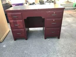 wooden home office desk. Wooden Home Office Desk All Wood Incredible In Good Condition  Furniture Ca Throughout Solid