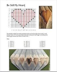 incredibly generous heather eddy shares tutorials and patterns galore on how to fold book pages into art rhymes with magic be still my heart pattern