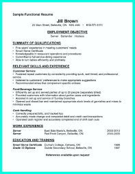 Resume For Bartenders New Nice Cocktail Server Resume Skills To