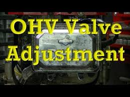 How To Adjust Valves On Ohv Small Engines Valve Clearance