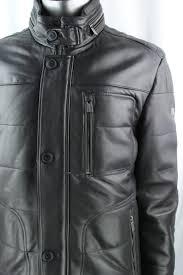men s trapper ben leather coat in dark brown