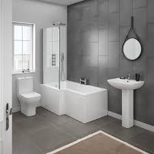 Milan Modern Shower Bath Suite Online At Victorian Plumbingcouk