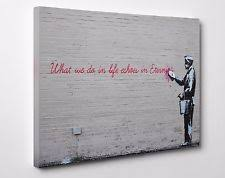 banksy life echoes in eternity canvas wall art print picture 12x8 inch a4 on banksy wall art prints with banksy gray art prints ebay