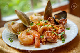 Italian Seafood Pasta Pescatore With ...