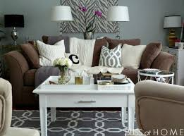 Space Grey Wall Color With White Wooden Coffee Table For Impressive Living  Room Decorating Ideas With