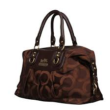 Coach Madison Logo Signature Large Coffee Luggage Bags EML ...