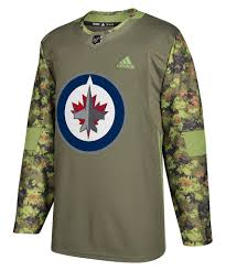 Jersey Winnipeg Life Pro Jets – Authentic Camo Adidas Hockey